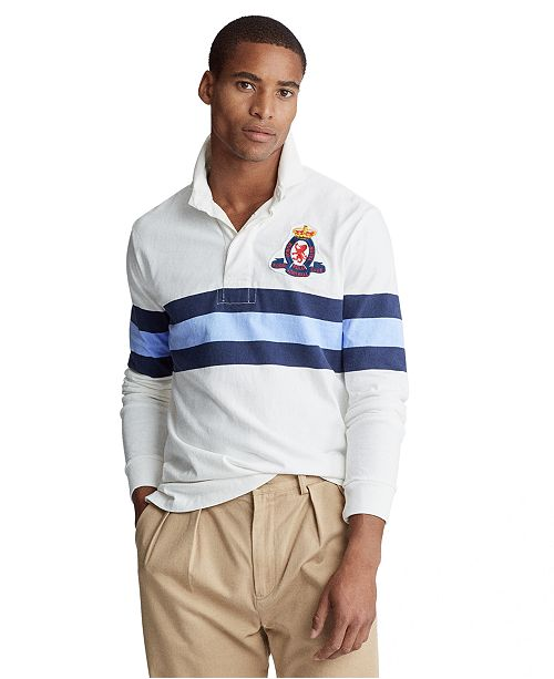 Polo Ralph Lauren Men's Classic Fit Striped Rugby Shirt