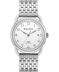 LIMTIED EDITION Men's Swiss Automatic Joseph Bulova Stainless Steel Bracelet Watch 38.5mm