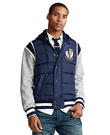 Men's Down-Paneled Baseball Jacket