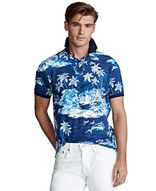 Men's Custom Slim Fit Tropical Mesh Polo