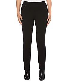 Women's Ponte Comfort Fit Slim Leg Pants-Short Inseam