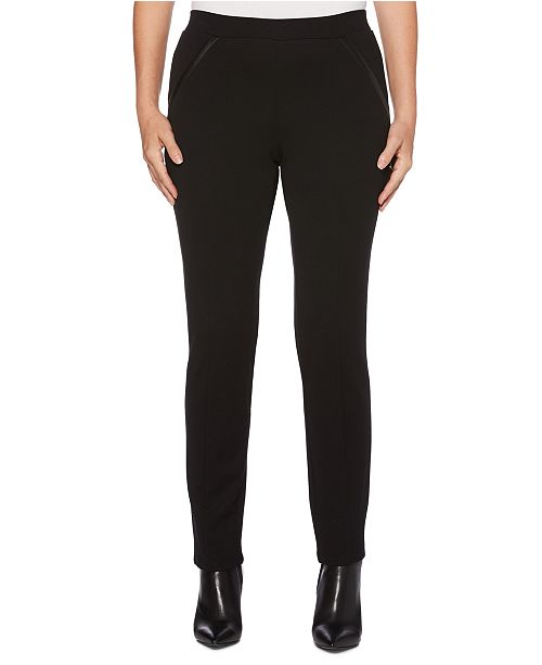 Rafaella Women's Ponte Comfort Fit Slim Leg Pants