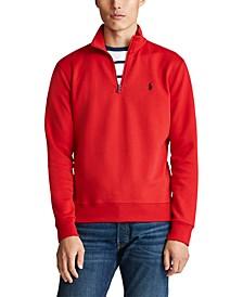 Men's Double-Knit Mockneck Quarter-Zip Pullover