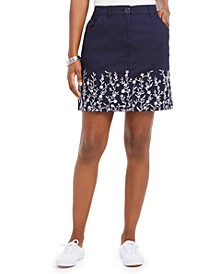 Petite Embroidered Skort, Created for Macy's