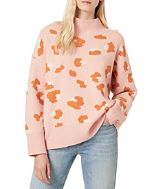 Louella Hiro Printed Mock-Neck Sweater