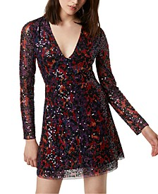 Inari Paillette-Embellished Printed Dress