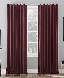 """Evelina Faux Silk 50"""" x 63"""" Thermal Blackout Curtain Panel"""