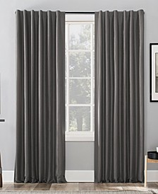 "Evelina Faux Silk 50"" x 63"" Thermal Blackout Curtain Panel"