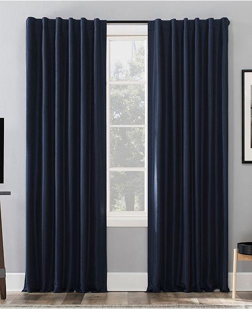 Exclusive Fabrics Bellino 63 Inch Rod Pocket Blackout Curtain Panel
