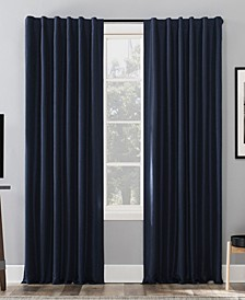 "Evelina Faux Silk 50"" x 95"" Thermal Blackout Curtain Panel"