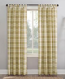 """Blair Farmhouse Plaid 52"""" x 63"""" Semi-Sheer Curtain Panel"""
