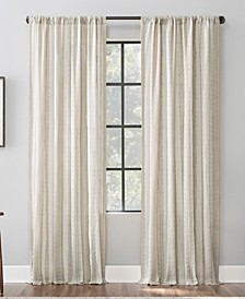 "Textured Stripe 52"" x 84"" Cotton Curtain Panel"