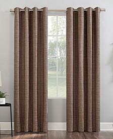 """Kline Burlap Weave 52"""" x 63"""" Thermal Blackout Curtain Panel"""