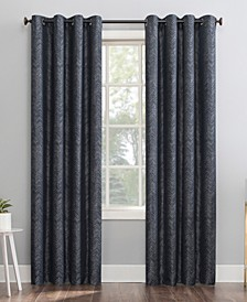 Peyton Distressed Chevron Thermal Extreme Blackout Curtain Collection