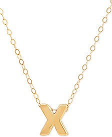 "Block Initial 18"" Pendant Necklace in 10k Gold"