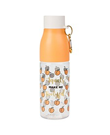 "750ml Plastic ""Squats Make Me Bootyful"" Water Bottle with Carabiner"