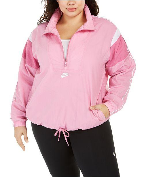 Nike Plus Size Heritage Half-Zip Active Jacket