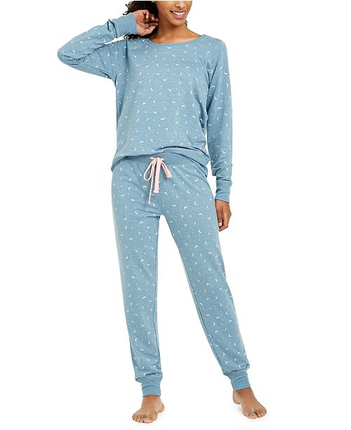 Jenni Printed Knit Pajamas Set, Created For Macy's
