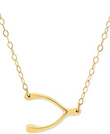 "Wishbone 17"" Pendant Necklace in 10k Gold"