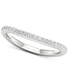 Diamond Curve Band (1/5 ct. t.w.) in 14k White Gold