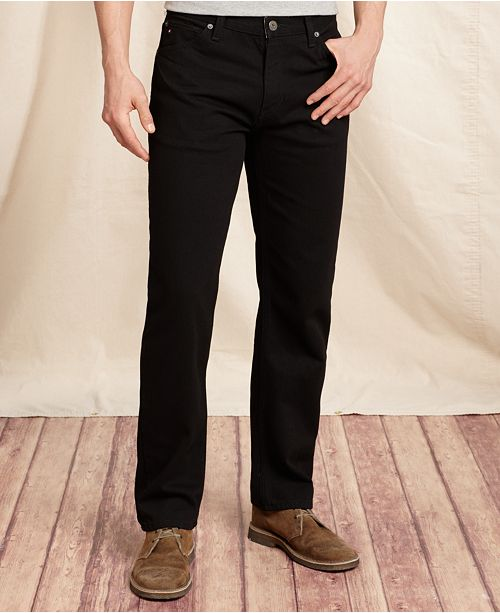 Tommy Hilfiger Men's Collegiate Black Jeans, Created for Macy's