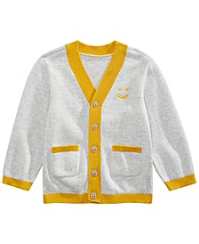 Baby Boys Smiley-Face Cardigan, Created for Macy's