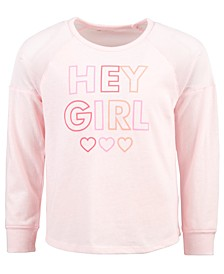 Little Girls Hey Girl-Print T-Shirt, Created For Macy's