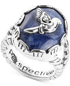 Sodalite Bird Statement Ring in Sterling Silver