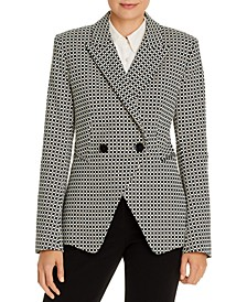 Jezebel Printed Double-Breasted Blazer