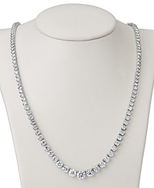 "Certified Diamond Graduated 17"" Statement Necklace (15 ct. t.w.) in 18k White Gold"