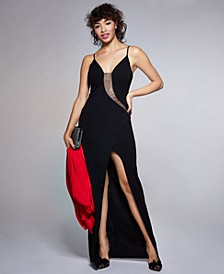 Juniors' Embellished Bodycon Gown