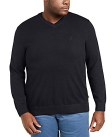 Men's Big & Tall Navtech Jersey-Knit V-Neck Sweater