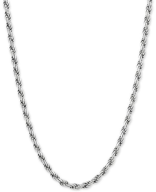 "Macy's Rope Link 22"" Chain Necklace in Sterling Silver"