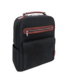 "Logan 17"" Nylon Dual-Compartment Laptop Tablet Backpack"