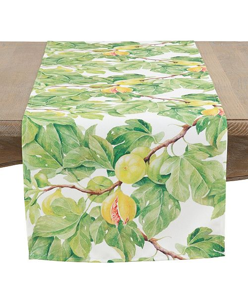 Saro Lifestyle Fig-Ure It Out Table Runner