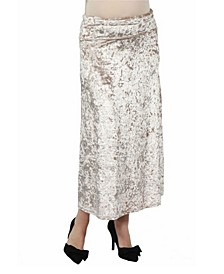 Women's Velvet Maternity Maxi Skirt