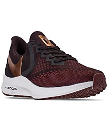 Women's Air Zoom Winflo 6 Wide Width Running Sneakers from Finish Line