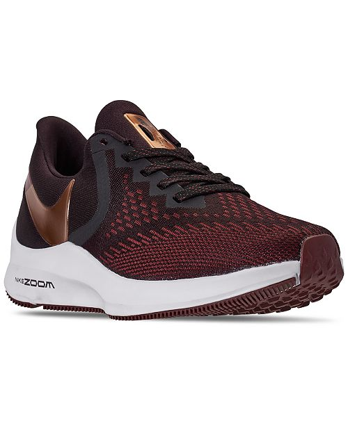 Nike Women's Air Zoom Winflo 6 Wide Width Running Sneakers from Finish Line