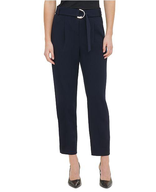 Calvin Klein D-Ring Belt Pants