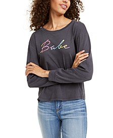 Juniors' Babe Long-Sleeved Graphic T-Shirt
