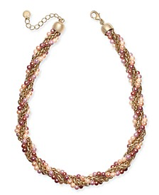 """Gold-Tone Imitation Pearl Torsade Necklace, 17"""" + 2"""" extender, Created For Macy's"""