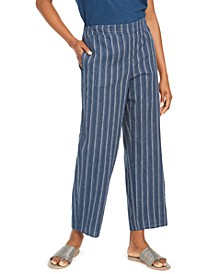 Organic Striped Pants, Regular & Petite, Created For Macy's