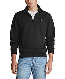 Men's Big & Tall Double-Knit Quarter Zip Pullover
