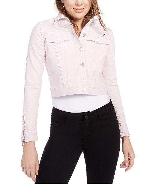 GUESS Adelya Cropped Denim Jacket