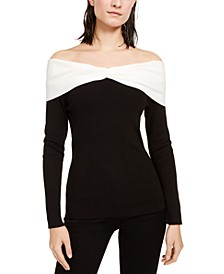 INC Twisted Off-The-Shoulder Top, Created For Macy's