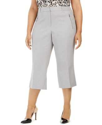Plus Size Parker Twill Cropped Pants