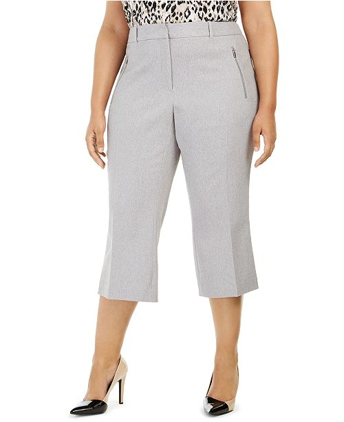 Calvin Klein Plus Size Parker Twill Cropped Pants