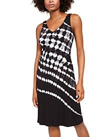 INC Tie-Dye Sleeveless Dress, Created For Macy's