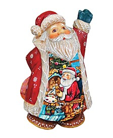 Nativity Workshop Santa Figurine