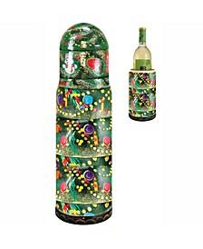 Christmas Tree Wine Bottle Gift Box